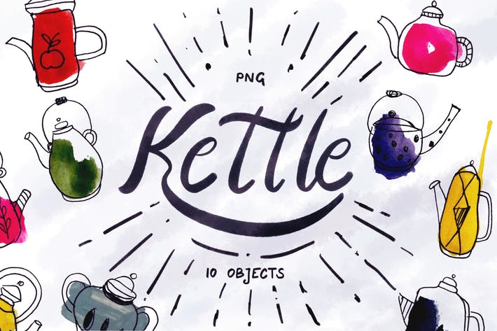 Cover Image For Kettle - 10 Hand-Painted Objects