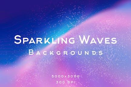 Sparkling Waves Backgrounds