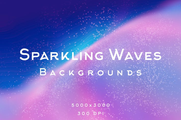 Thumbnail for Sparkling Waves Backgrounds