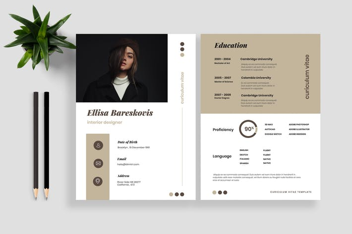 Thumbnail for Resume CV Template 17