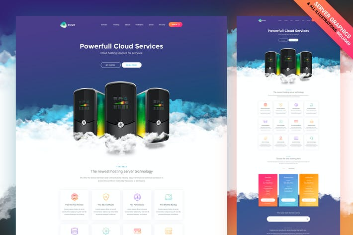 Thumbnail for Cloud Hosting Web Template PSD [Graphics Included]