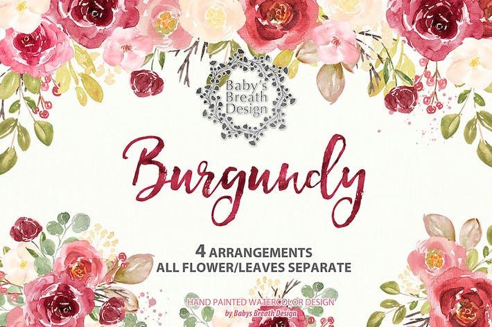 Thumbnail for Burgundy watercolor design