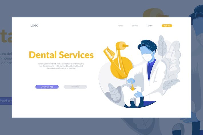 Thumbnail for Dental Service Illustration