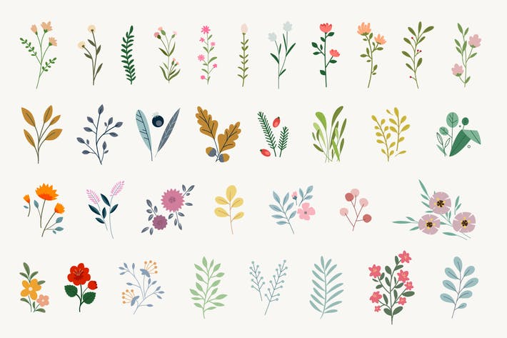 Thumbnail for Set of floral elements