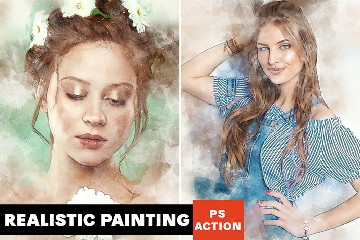 Thumbnail for Realistic Painting Photoshop Action