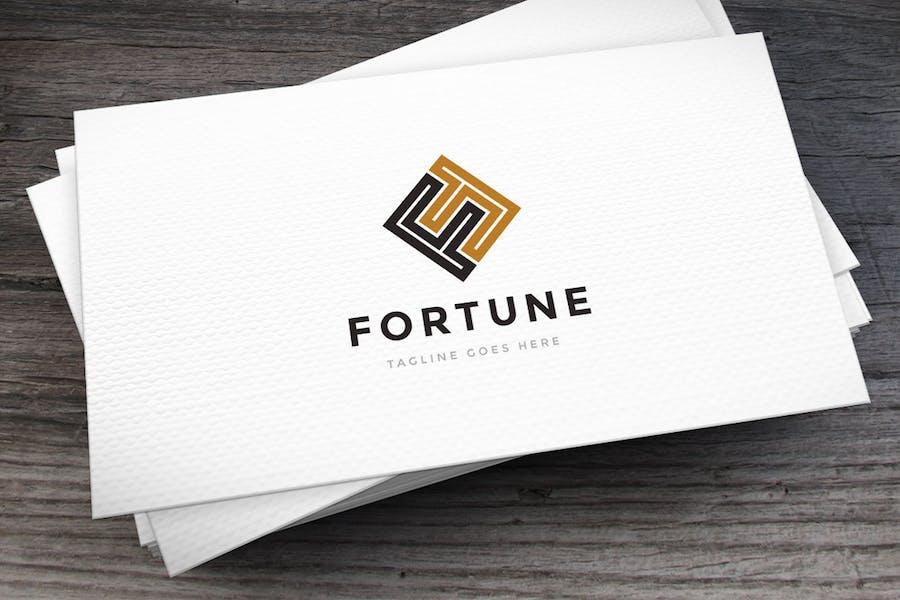 Fortune Letter F Logovorlage
