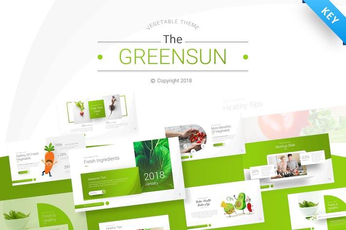Thumbnail for The Greensun Keynote Presentation Template