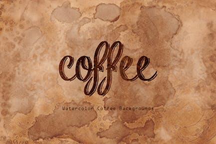 Aquarelle Kaffee Hintergründe