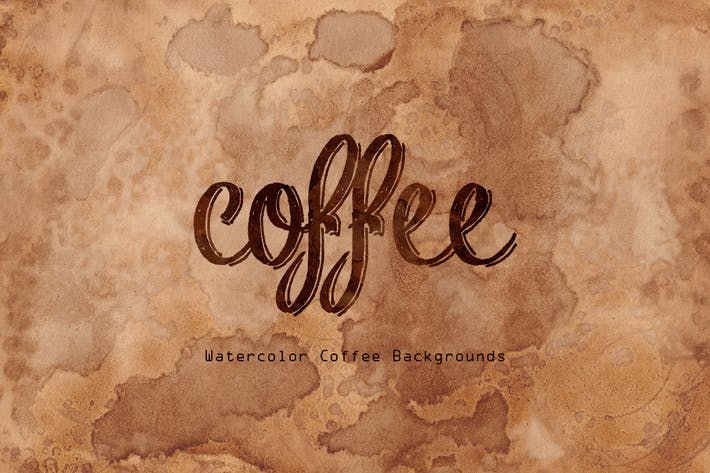 Cover Image For Watercolors Coffee Backgrounds