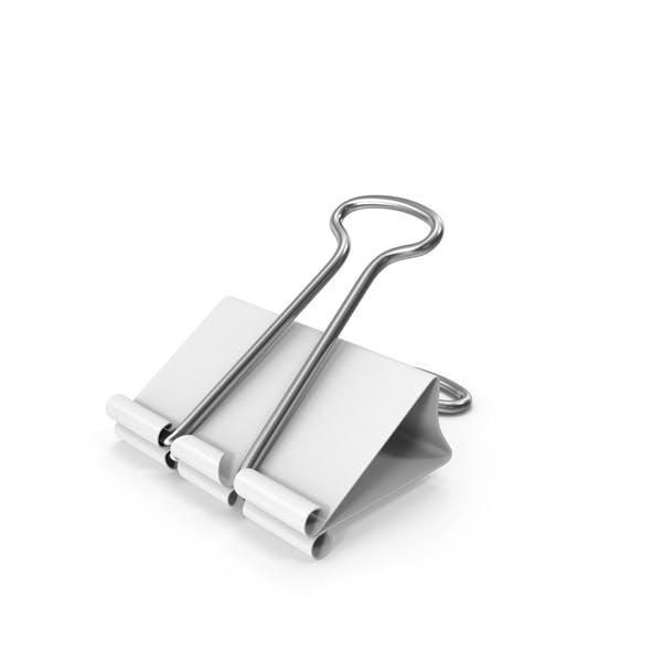 Clip para encuadernador, color blanco
