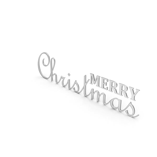 Thumbnail for Merry Christmas Symbol Silver