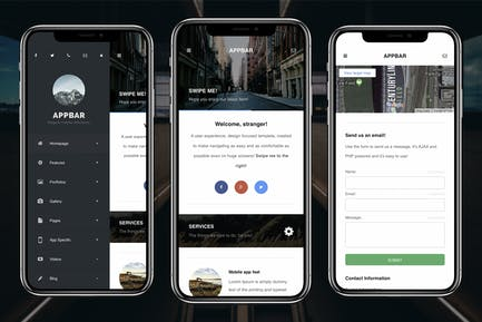 AppBar Mobile | Multi-Purpose Mobile Template