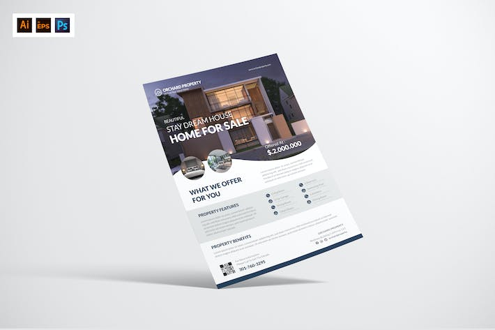 Thumbnail for Home Property Sale Flyer Design