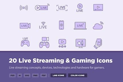 20 Live- und GamingIcons