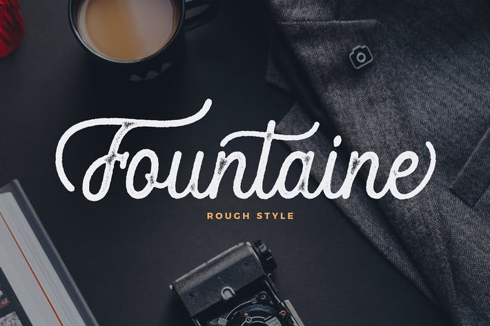 Thumbnail for Fountaine Rough Script
