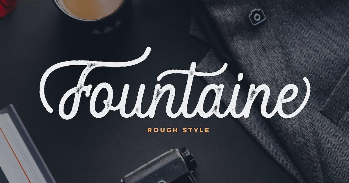 Download Fountaine Rough Script by UnicodeID