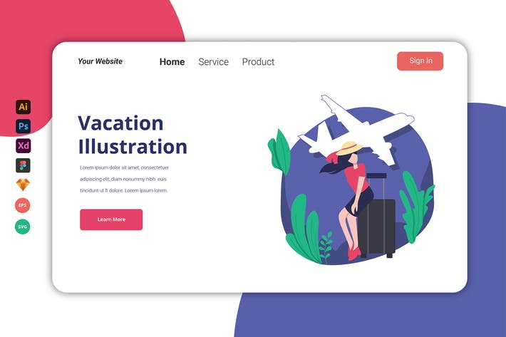 Thumbnail for Отпуск - Landing Page