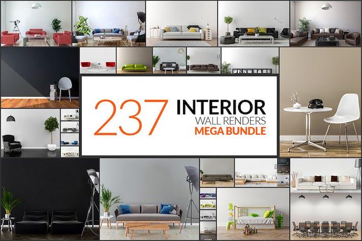 Thumbnail for 237 Interior Wall Renders - Mega Bundle