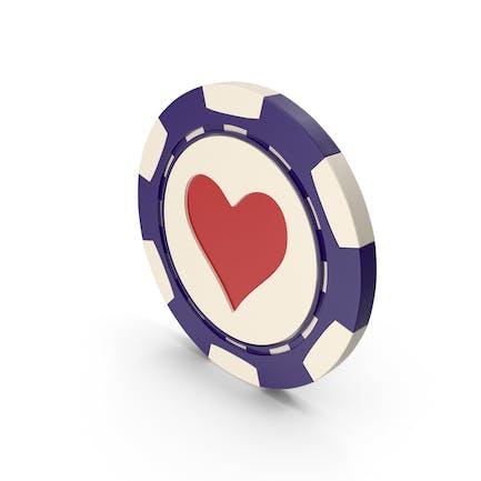 Hearts Casino Chip