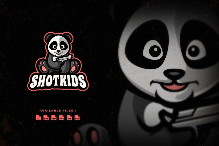 Thumbnail for Little Panda Shooter Character Logo