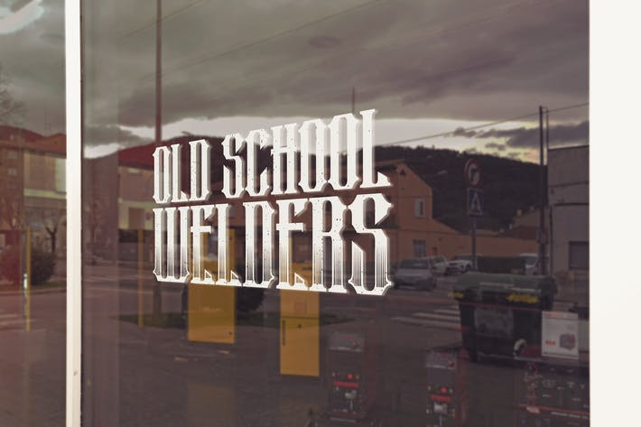 Thumbnail for Welder Shop Logo Mockup