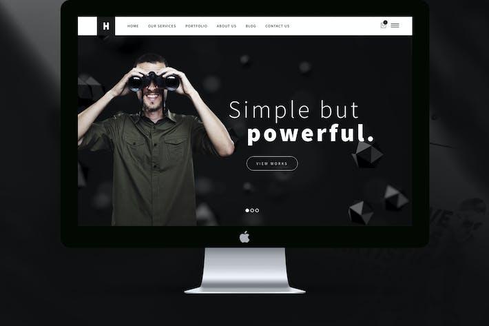 Cover Image For Heli Black & White Minimal Creative Multipurpose