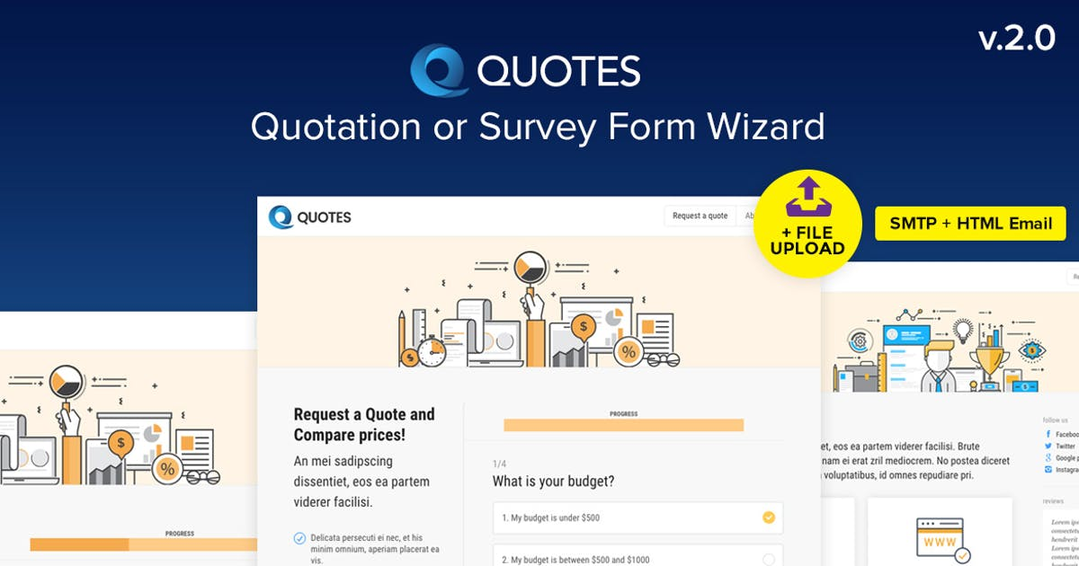 Download Quote - Quotation or Survey Form Wizard by Ansonika