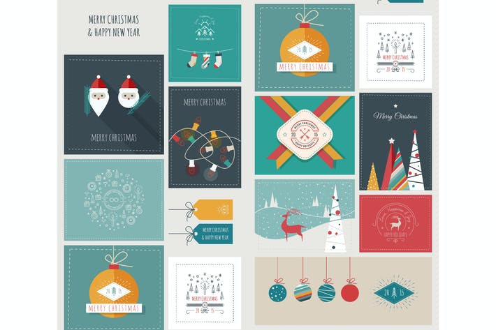 Thumbnail for New Year and Christmas Greeting Cards and Banners