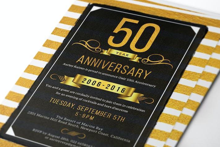 Thumbnail for Gold Anniversary Invitation
