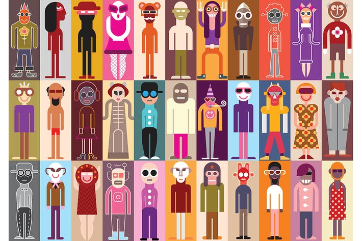 Cover Image For Large collection of funny people avatars
