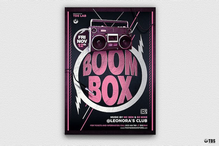 Thumbnail for Boombox Flyer Template