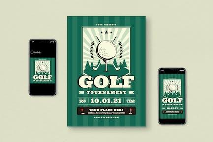 Golf Tournament Flyer Pack