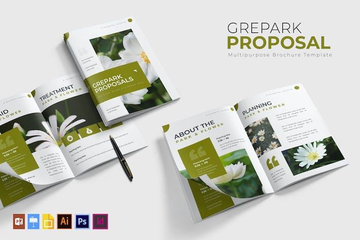 Thumbnail for Grepark | Modèle de proposition