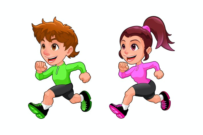 Thumbnail for Funny Running Boy and Girl