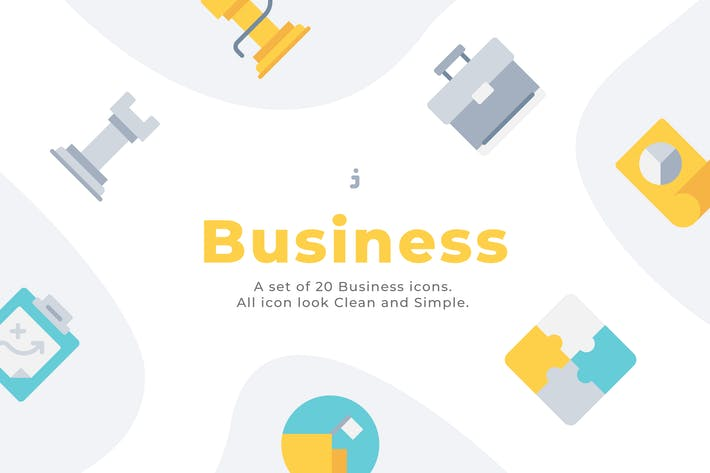 Thumbnail for 20 BusinessIcons - Flach