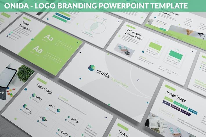 Thumbnail for Onida - Логотип Брендинг Powerpoint Шаблон