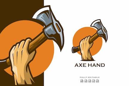 Hand & Axe Logo Mascot