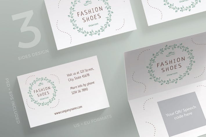 Thumbnail for Fashion Shoes Business Card Template