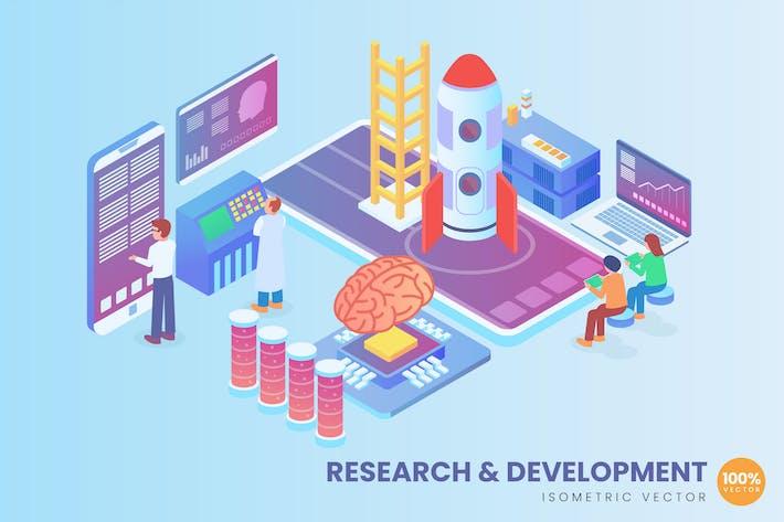 Thumbnail for Isometrische Forschung und Entwicklung Vektor konzept