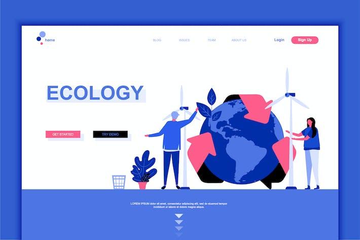 Thumbnail for Plantilla de Página de aterrizaje plana de Ecology Earth