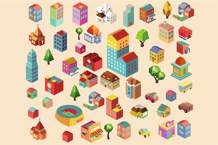 Thumbnail for Bunte Vektor isometrische Gebäude