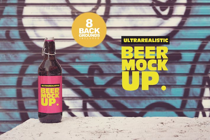 Thumbnail for 50cl Beer Mockup Background