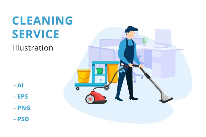 Thumbnail for Cleaning Service Illustration