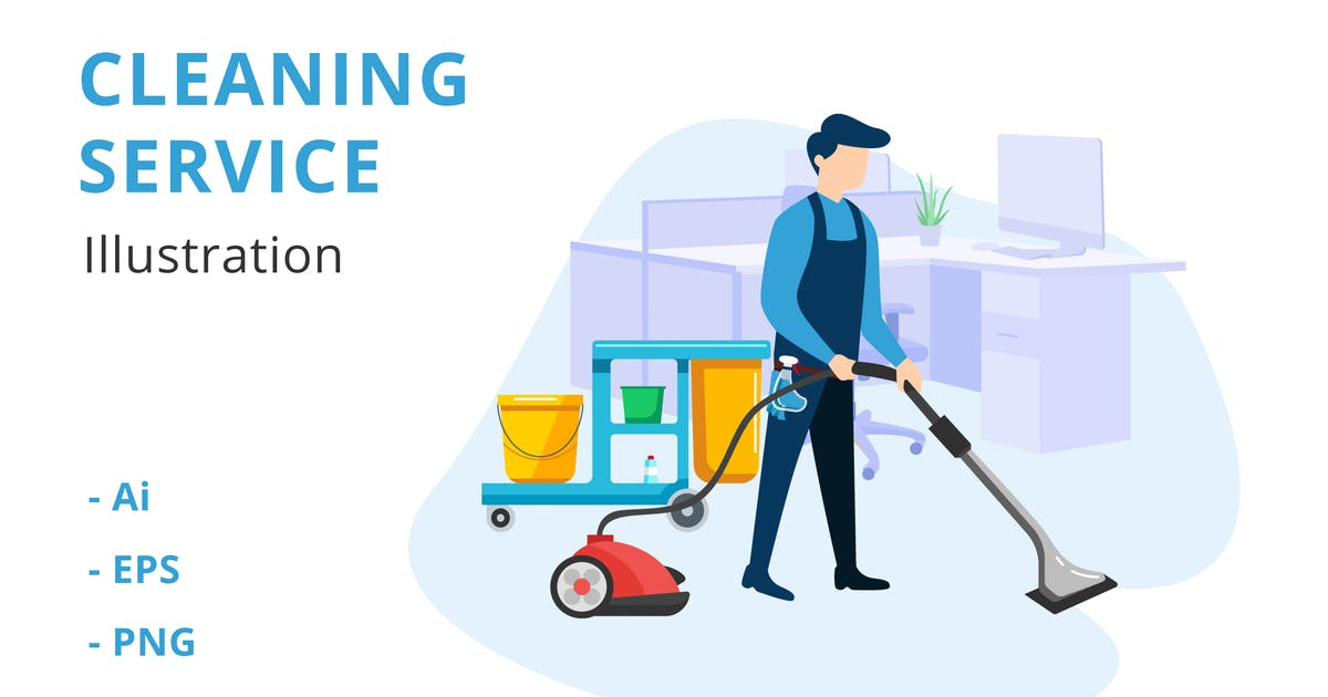 Download Cleaning Service Illustration by deemakdaksinas