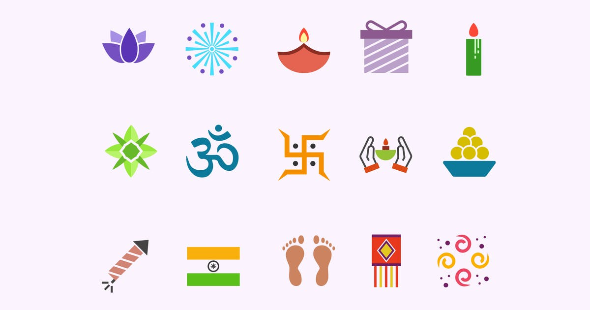 Download 15 Diwali Icons by creativevip