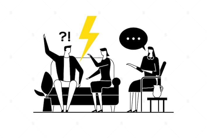 Thumbnail for Family psychologist - flat design illustration
