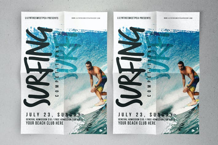 Thumbnail for Surfing Competition flyer & poster
