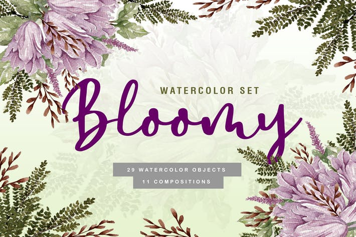 Thumbnail for Bloomy - Watercolor Collection