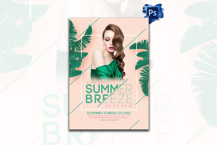 Thumbnail for Summer Breeze Party Flyer