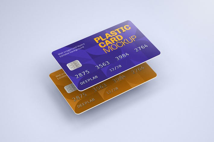 Thumbnail for Plastic Card Mockup | Credit Card